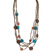 Bamboo, Coconut & Capiz Shell Slip-on Necklace