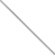 Sterling Silver 1.2mm Round Snake Chain anklet
