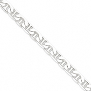 Sterling Silver 9.5mm Anchor Chain anklet