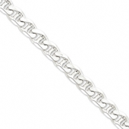 Sterling Silver 10.5mm Anchor Chain anklet