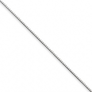 Sterling Silver .90mm Box Chain anklet