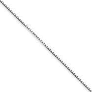 Sterling Silver 1.10mm Box Chain anklet