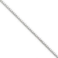 Sterling Silver 1.4mm Box Chain anklet
