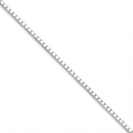 Sterling Silver 1.5mm Box Chain anklet