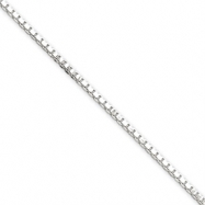 Sterling Silver 1.75mm Box Chain anklet