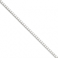 Sterling Silver 1.9mm Box Chain anklet