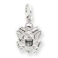 Sterling Silver Army Insignia Charm