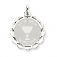 Sterling Silver First Holy Communion Disc Charm