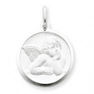 Sterling Silver Satin Angel Charm