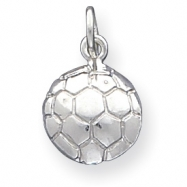 Sterling Silver Soccerball Charm