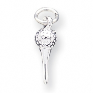 Sterling Silver Golf Ball And Tee Charm