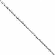Sterling Silver 2mm Curb Chain anklet