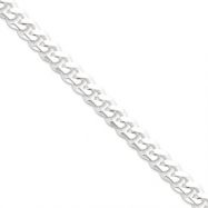 Sterling Silver 9mm Curb Chain anklet