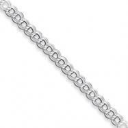 Sterling Silver Double Link Charm Bracelet