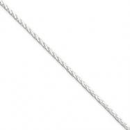 Sterling Silver 1.5mm Diamond-Cut Spiga Chain