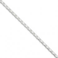 Sterling Silver 2.5mm Diamond-Cut Spiga Chain