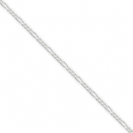 Sterling Silver 1.75mm Figaro Chain anklet