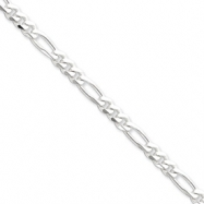 Sterling Silver 5.25mm Figaro Chain anklet