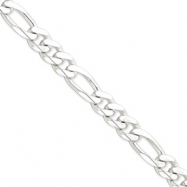 Sterling Silver 10.75mm Figaro Chain anklet