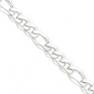 Sterling Silver 12.75mm Figaro Chain anklet