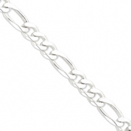 Sterling Silver 15mm Figaro Chain anklet