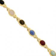 Sterling Silver & Vermeil Scarab Bracelet