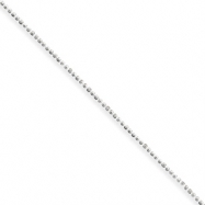 Sterling Silver 1mm Beaded Necklace anklet