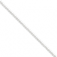 Sterling Silver Necklac Beaded Box Chain