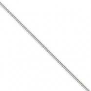 Sterling Silver 1mm Round Snake Chain anklet