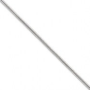 Sterling Silver 1.75mm Round Snake Chain bracelet