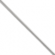Sterling Silver 2mm Round Snake Chain