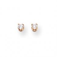 14k A Diamond stud earring