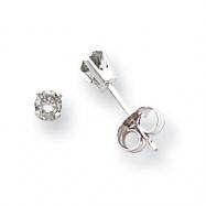 14k White Gold A Diamond stud earring