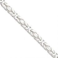 Sterling Silver 8.25mm Square Byzantine Chain