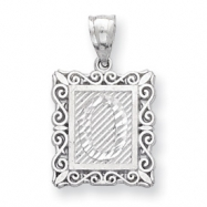 Sterling Silver Initial O Charm
