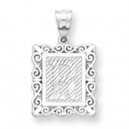 Sterling Silver Initial R Charm