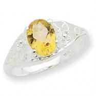 Sterling Silver Citrine ring bracelet