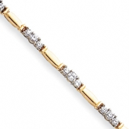 14k Two-tone A Diamond tennis bracelet
