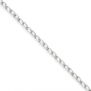 Sterling Silver 2.8mm Open Link Chain anklet