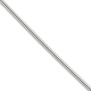 Sterling Silver 2.25mm Round Snake Chain