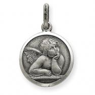 Sterling Silver Antiqued Raphael Angel Charm