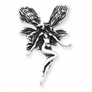 Sterling Silver Antiqued Fairy Pendant