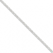 Sterling Silver 2mm Fancy Anchor Pendant Chain anklet
