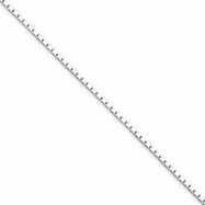 Sterling Silver 1mm Mirror Box Chain