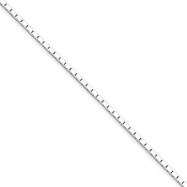 Sterling Silver 1.25mm Mirror Box Chain