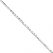 Sterling Silver 1.45mm Diamond-cut Round Franco Chain bracelet