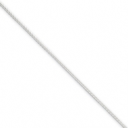 Sterling Silver 0.95mm Round Franco Chain
