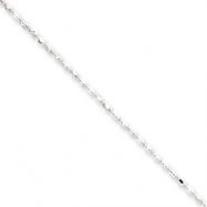 Sterling Silver 1.5mm Beaded Pendant Chain