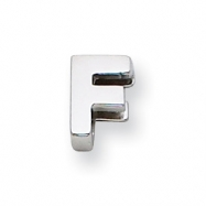 Sterling Silver Initial Slide  F