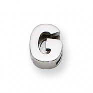 Sterling Silver Initial Slide  G